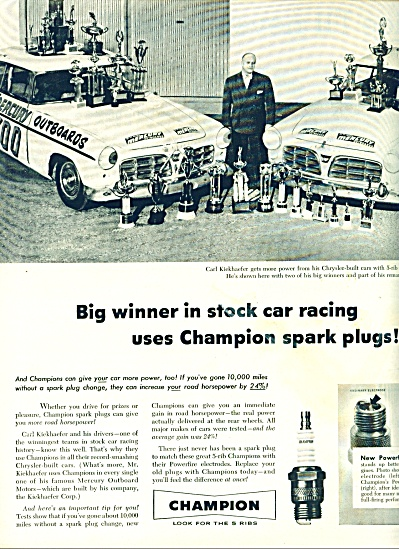 Champion spark plugs -  1956 (Image1)