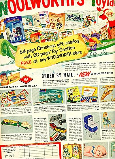 1956 Woolworth's toyland AD TOYS DOLLS TRUCKS (Image1)