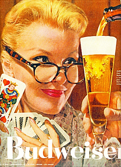 Budweiser beer ad 1957 SERVING THE BEST (Image1)
