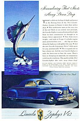1942 - Lincoln Zephyr V-12.  ad (Image1)