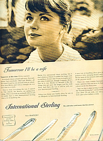1957 International Sterling ad 5 Patterns (Image1)