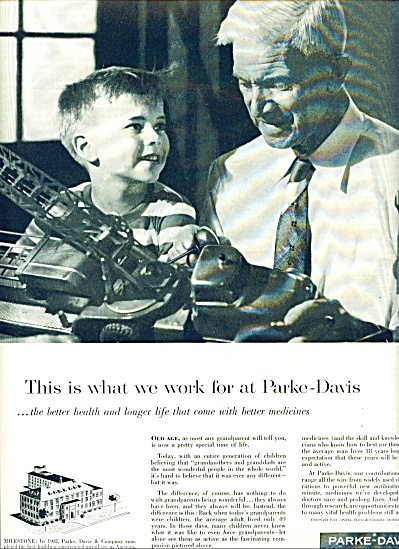 1957 Parke-Davis AD BOY - GRANDFATHER (Image1)