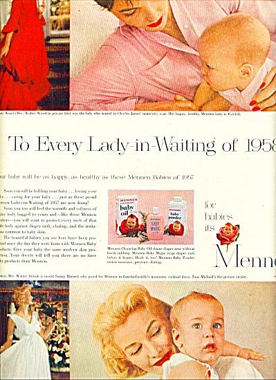 1957 MENNEN AD MODELS Sunny Harnett - Ross ++ (Image1)