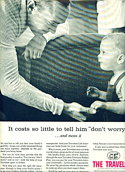1957 Travelers Insurance AD DAD - LITTLE BOY (Image1)