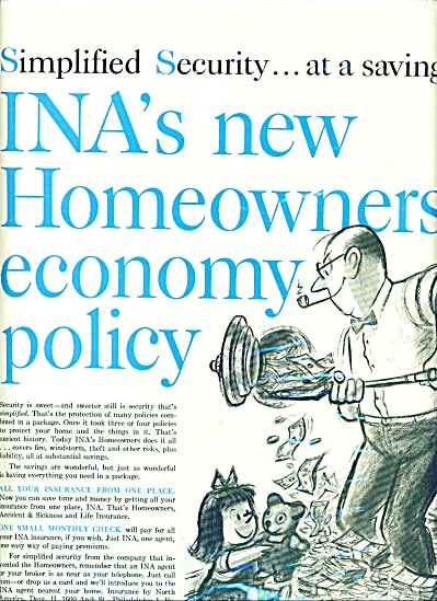 Insurance by North America - INA  ad 1959 (Image1)