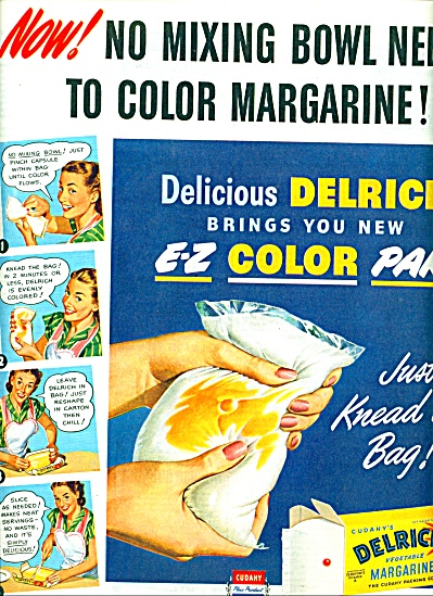 Delrich vegetable margarine ad 1947 (Image1)