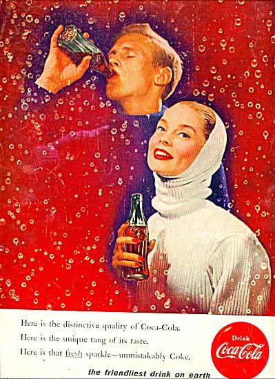 1955/1956 COKE Coca Cola AD FRIENDLIEST DRINK (Image1)