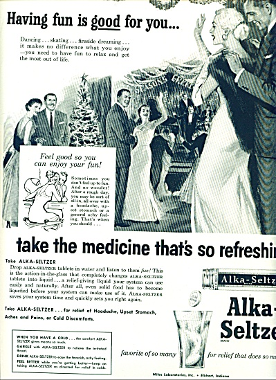 Alka Seltzer ad Beautiful Vintage ARTWORK (Image1)