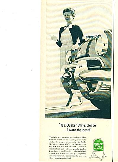 Quaker State Motor oil ad 1955 (Image1)