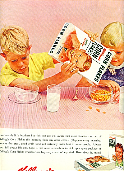 1955 Kellogg's Corn Flakes Ad Norman Rockwell