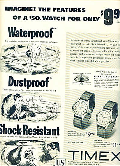 Timex watches ad 1953 (Image1)