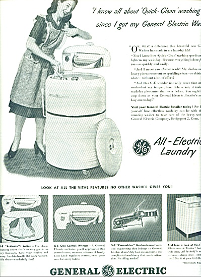 1947 General WRINGER WASHER AD (Image1)