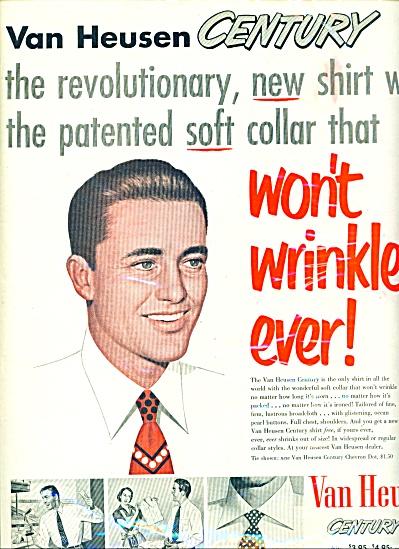 1952 Van Heusen Century shirts AD LOOKER MAN (Image1)