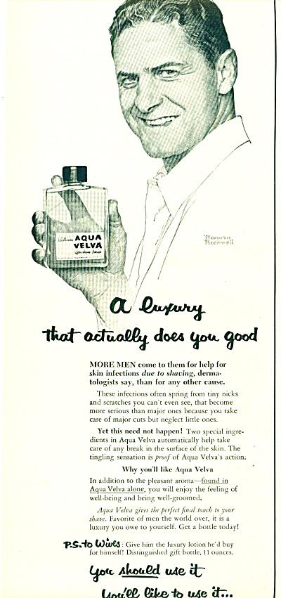 1953 NORMAN ROCKWELL Aqua Velva AD (Image1)