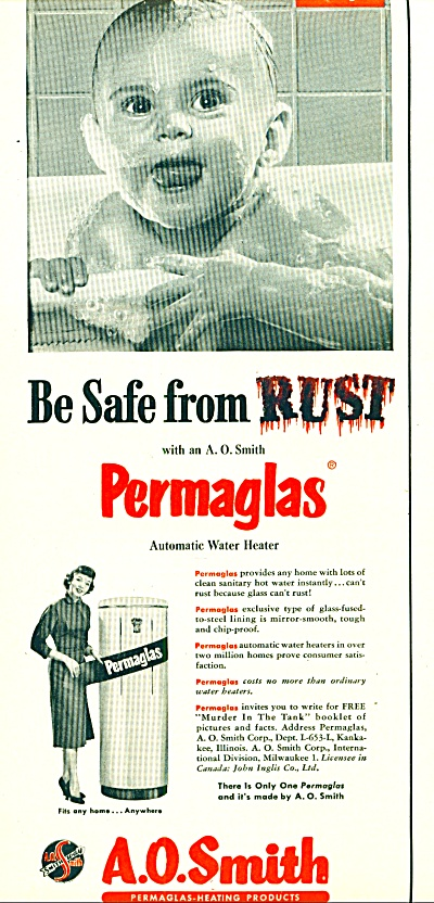 A. O. Smith permaglas auto. water heater ad (Image1)