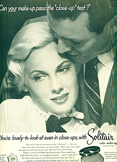1953 Solitair cake make up  AD BLONDE BEAUTY (Image1)
