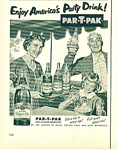 Par-T-Pak full flavor beverages ad 1953 (Image1)