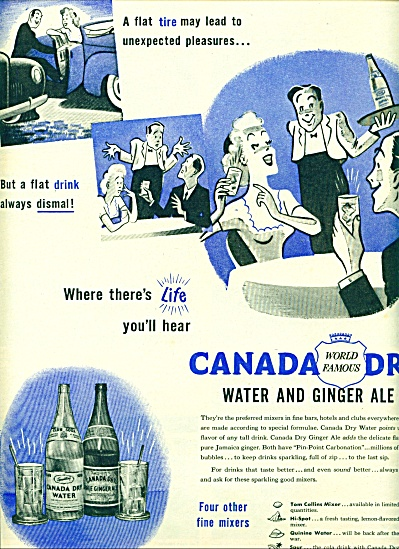 1945 Canada Dry  water and Ginger ale AD (Image1)