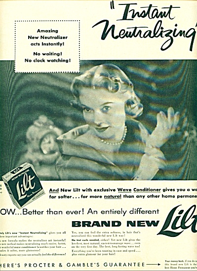 1957 Lilt  Home Permanent AD BEAUTIFUL WOMAN (Image1)
