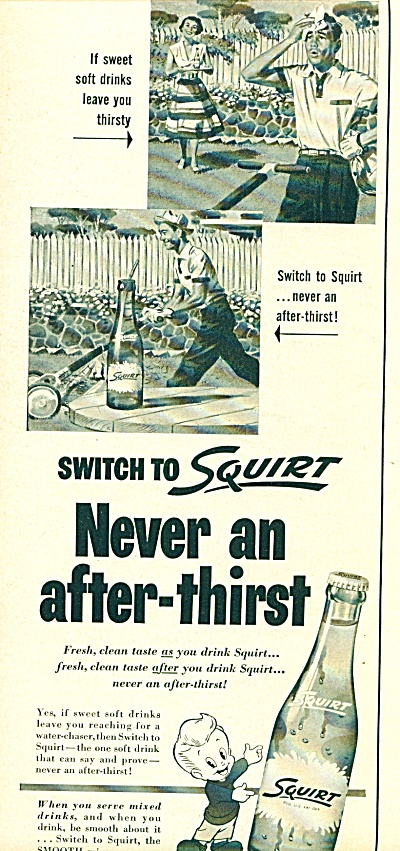 1957 SQUIRT SODA AD Vintage Bottle - ART (Image1)