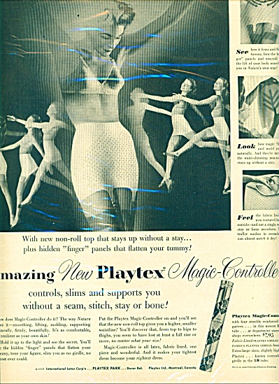 1953 Playtex magic controller  BRA GIRDLE AD (Image1)