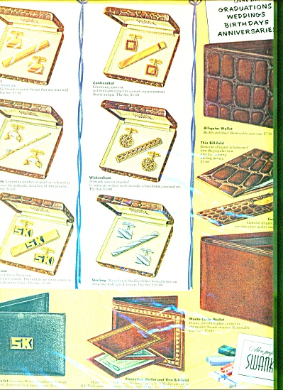 Swank billfolds, comb & file sets ad 1957 (Image1)