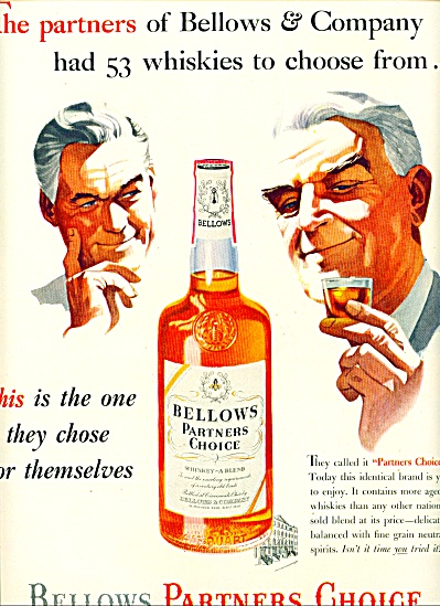 1953 Bellows Partners Whiskey AD Partner MEN (Image1)