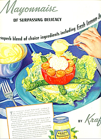 Kraft genuine Mayonnaise ad 1939 (Image1)
