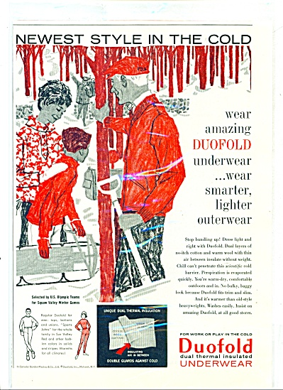 1959 Duofold Insulated UNDERWEAR AD Artwork (Image1)