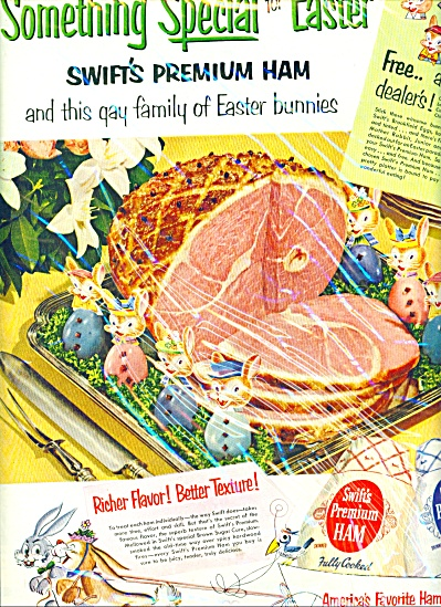 1952 Swift's premium ham  ad Gay Easter AD (Image1)