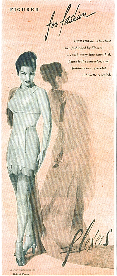 1947 Flexees foundations AD FASHION MODEL (Image1)