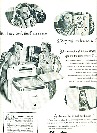 1947 Maytag WASHER Washing Machine  AD (Image1)
