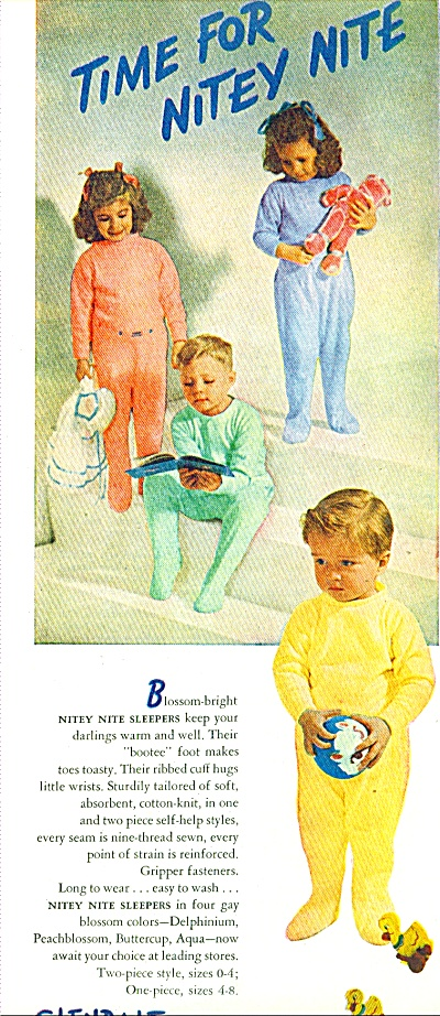 1947 Glendale Knitting AD Kids in Pajamas NIT (Image1)