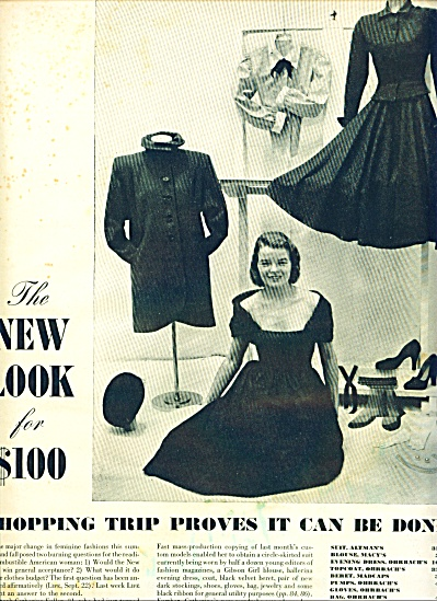 1947 Women's  Fashions AD CATHERINE FULLER (Image1)