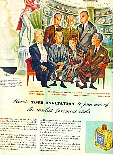 Aqua Velva after shaving lotion ad 1947 (Image1)