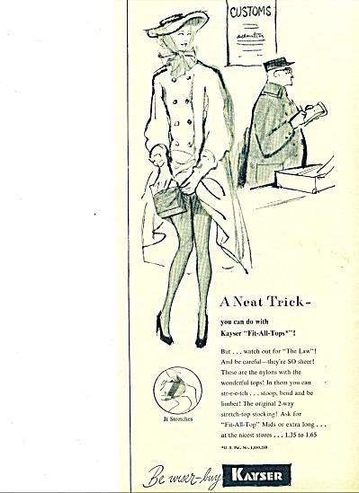 Vintage Kayser hosiery, gloves, lingerie ad (Image1)