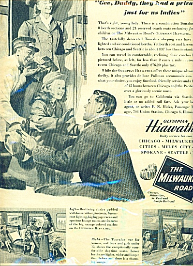 The Milwaukee Road Train line ad 1947 (Image1)