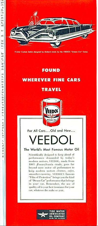Veedol motor oil ad 1952 (Image1)
