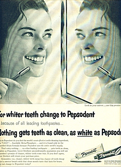 Pepsodent Tooth Paste With Chlorophyll Ad
