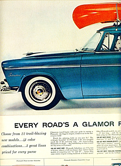 Plymouth Belvedere automobile ad for 1955 (Image1)