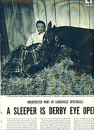 Kentucky Derby 1955 Story - SWAPS  Wins (Image1)