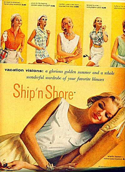 1955 Ship N Shore FASHIONS - MODEL AD (Image1)