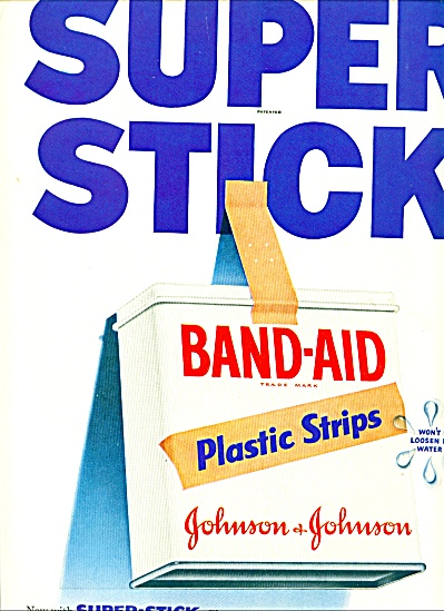 Band aid pastic strips ad 1955 (Image1)