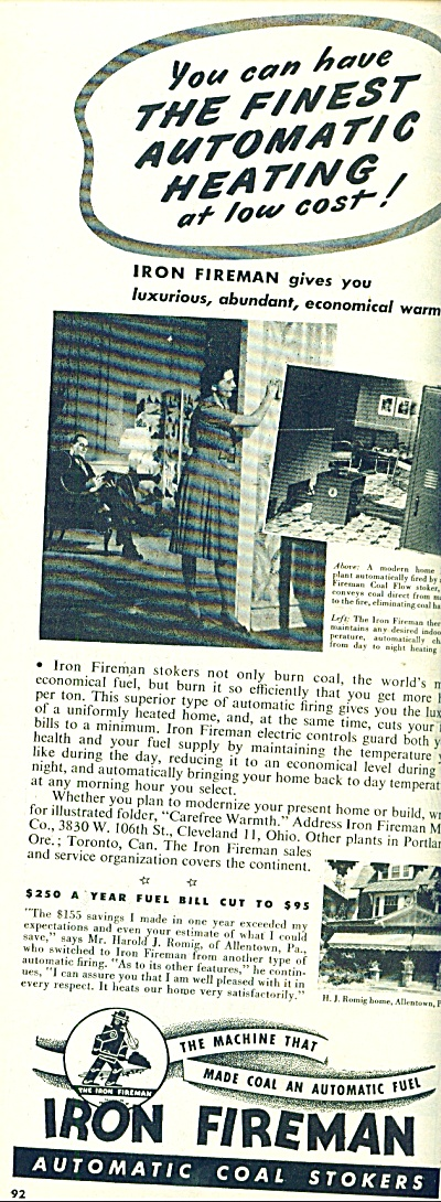 Iron Fireman - automatic coal stokers ad 1945 (Image1)