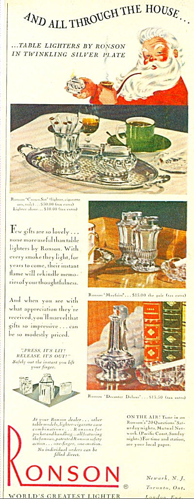 Ronson - world's greatest lighter ad 1947 (Image1)