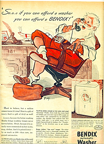 1947 Bendix Automatic Washer AD ART by PONY (Image1)
