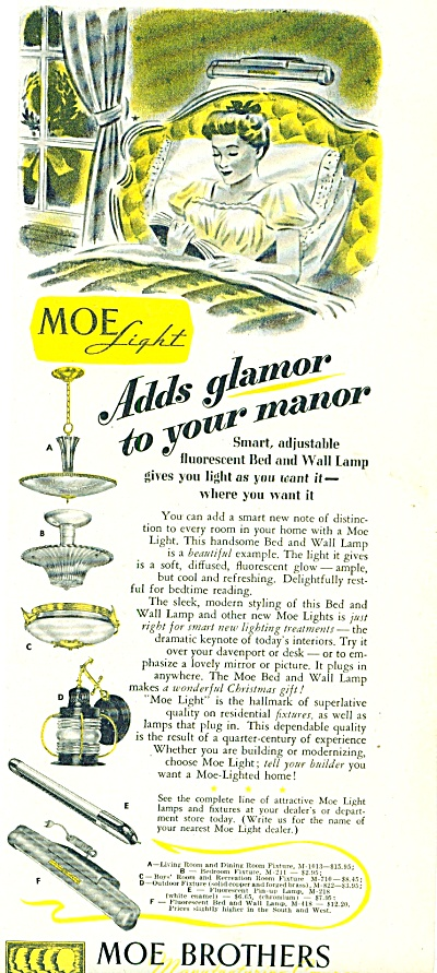 1947 MOE LIGHT Fixtures AD Lantern Ceiling Mo (Image1)