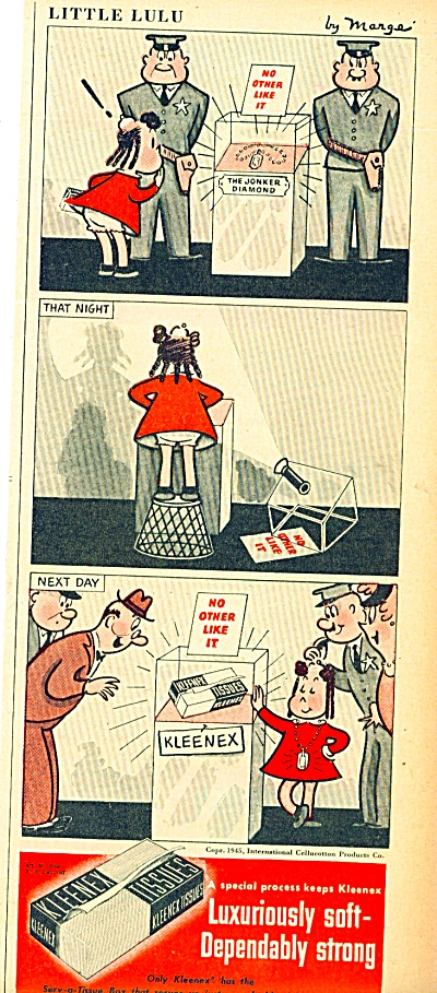 Kleenex tissues -  Little Lulu ad 1945 (Image1)