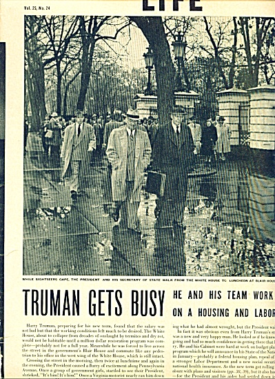 1948 Harry Truman President at WORK 5pg STORY (Image1)