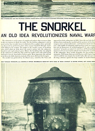 1948 The Snorkel NAVAL WARFARE 4p Expose (Image1)